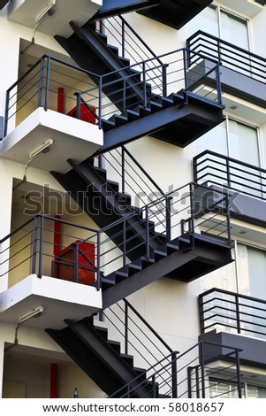 Stairs zigzag - stock photo