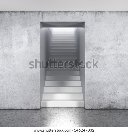 stairway composition - stock photo