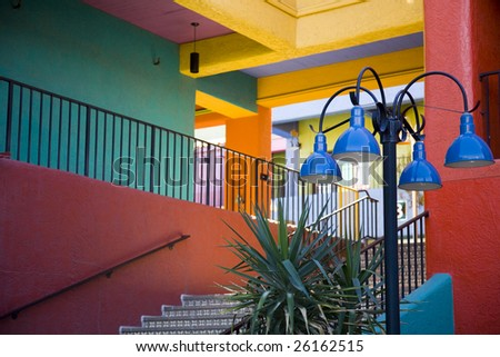 Stairway in La Placita in Tucson, Arizona - stock photo