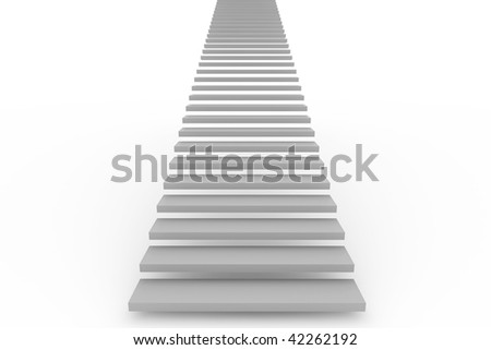 Stairway  isolated on white