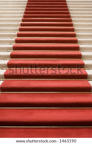 Stairway to Fame - stock photo