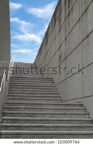 Stairway up - stock photo