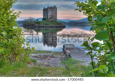 Stalker Castle in Highland, Scotland - stock photo