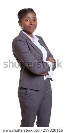 Stamding african businesswoman - stock photo