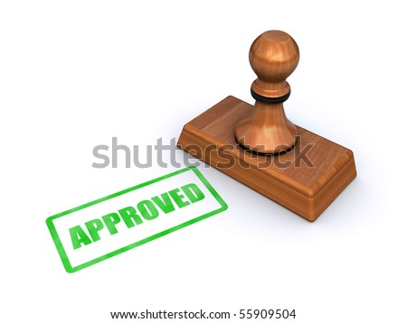 "stamp ""approved"" - stock photo"