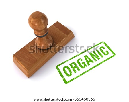 stamp organic (3d illustration)