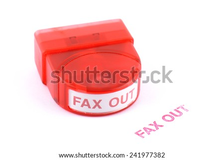 stamp with faxed in red ink isolated on white background - stock photo