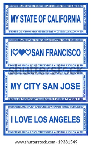 Stamps for the state of California The second set