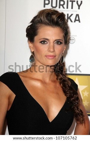 Stana Katic at the Second Annual Critics' Choice Television Awards, Beverly Hilton, Beverly Hills, CA 06-18-12
