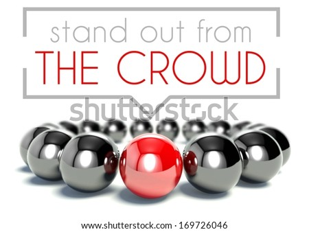 Stand out from the crowd business unique concept - stock photo
