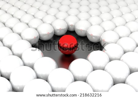 stand out of the crowd. Conception of leadership - stock photo