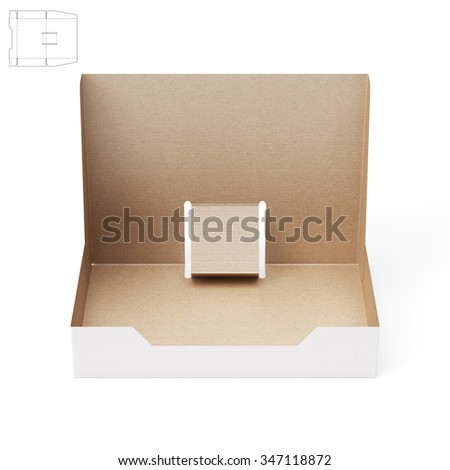 Stand Shelf Box with Die Cut Template