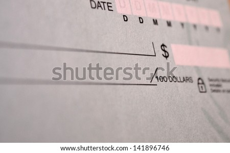 Standard bank cheque - stock photo