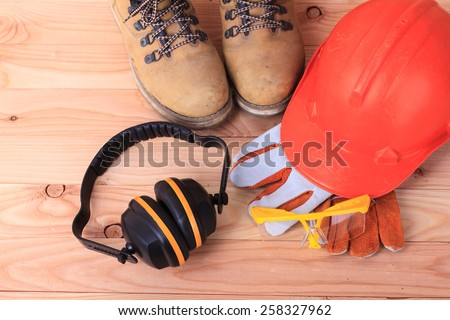 Standard construction safety - stock photo