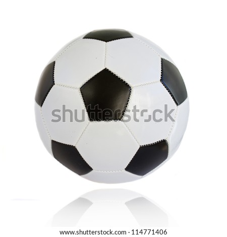 standard football ball isolated on white background - stock photo