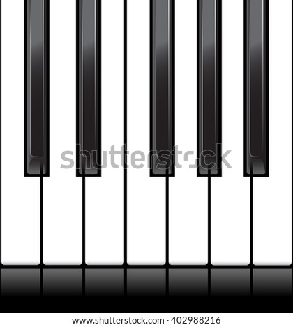 Standard piano octave as a horizontal seamless.