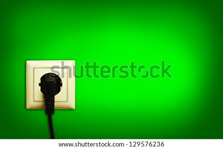 standart outlet with plug - stock photo