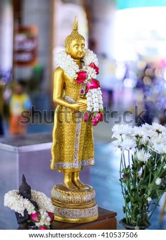 Standing Buddha,Buddha statue Little Buddha  - stock photo
