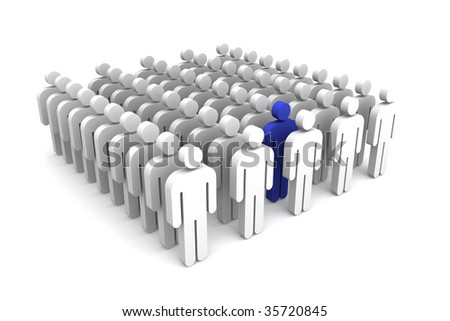 Standing in line - stock photo