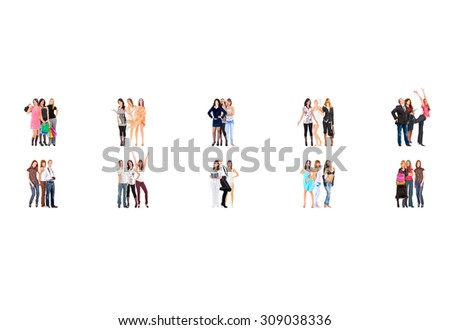 Standing Together Many Colleagues  - stock photo