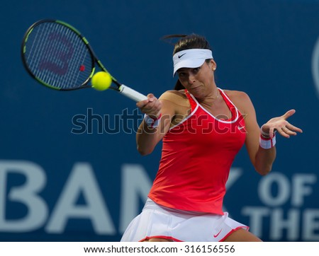 STANFORD, UNITED STATES - AUGUST 6 :  Ajla Tomljanovic  in action at the 2015 Bank of the West Classic WTA Premier tennis tournament