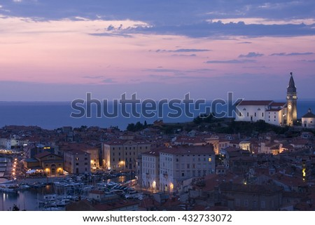 Stankt George Cathedral of Piran, Piran,  Slovenia, Europe