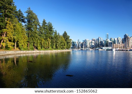 Stanley Park in Vancouver, Canada - stock photo