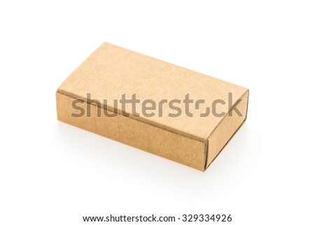 Staples box isolated on white background