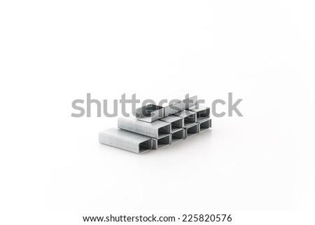 STAPLES isolated on white background - stock photo