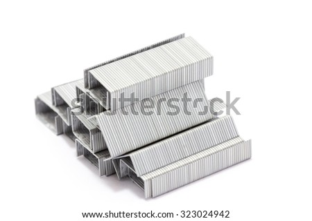 staples isolated on white background.