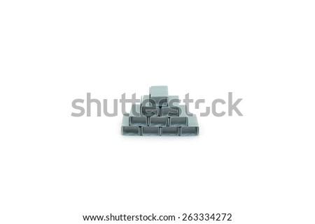 Staples on white background - stock photo