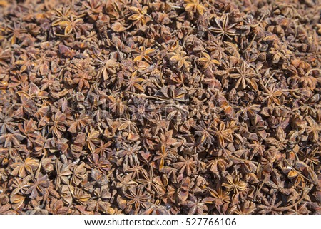 Star anise at the spice market.