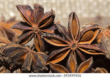 Star anise to flavor  dishes - stock photo