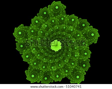 Star atoms - stock photo