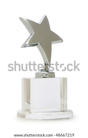 Star award isolated on the white background - stock photo