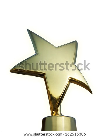 Star award isolated over white background - stock photo