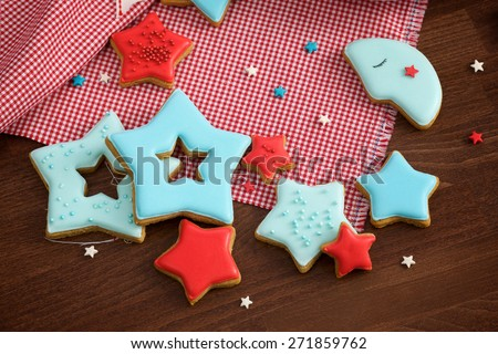 Star Christmas gingerbread cookies