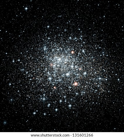 Star clusters in outer space - stock photo