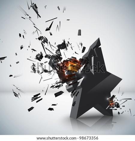 Star Crushing - stock photo