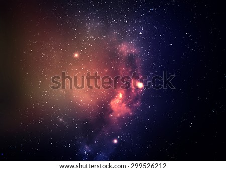 Star field in  deep space many light years far from the Earth. Elements of this image furnished by NASA - stock photo