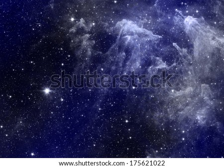 """Star field in space, a nebulae and a gas congestion. """"Elements of this image furnished by NASA"""". - stock photo"""