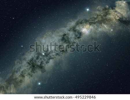 star field of the milky way, night sky background
