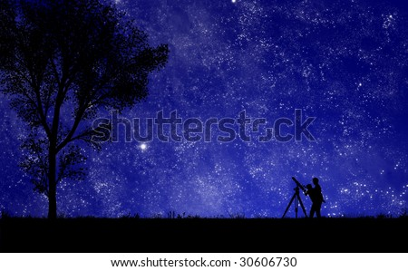 Star Gazing - stock photo
