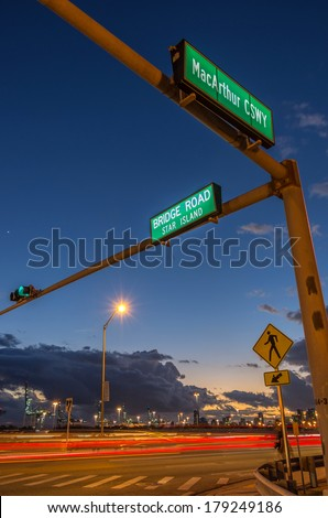 Star Island street sign,Miami Beach - stock photo