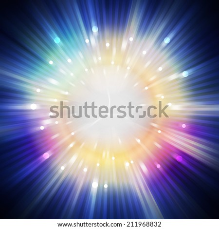 star light aura in universe, illustration background - stock photo