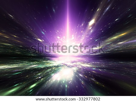 Star light effect. Abstract sparkle beautiful motion color background for a night disco party. Bright flash for creativity design for wallpaper desktop, cover booklet. Fractal art - stock photo