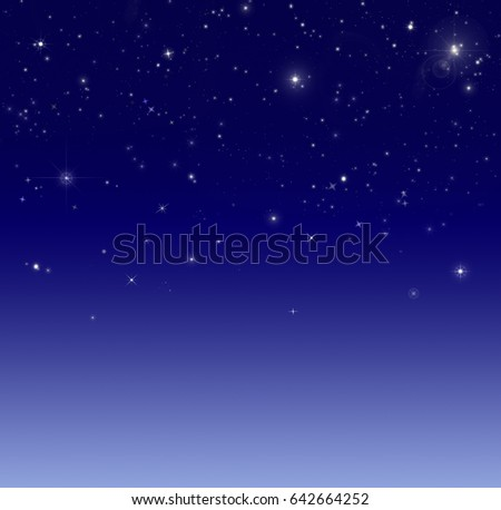 Star luminous shining in dark space background. Design pattern of starlight shining in the dark.
