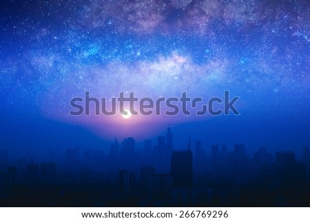 star night at Bangkok city,Thailand - stock photo
