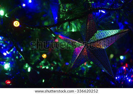 star of christmas - stock photo