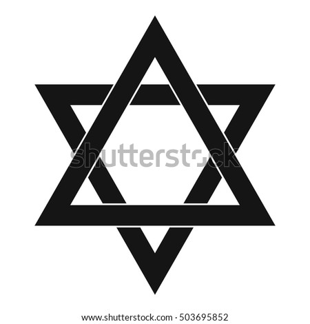 Star of David icon in simple style on a white background  illustration
